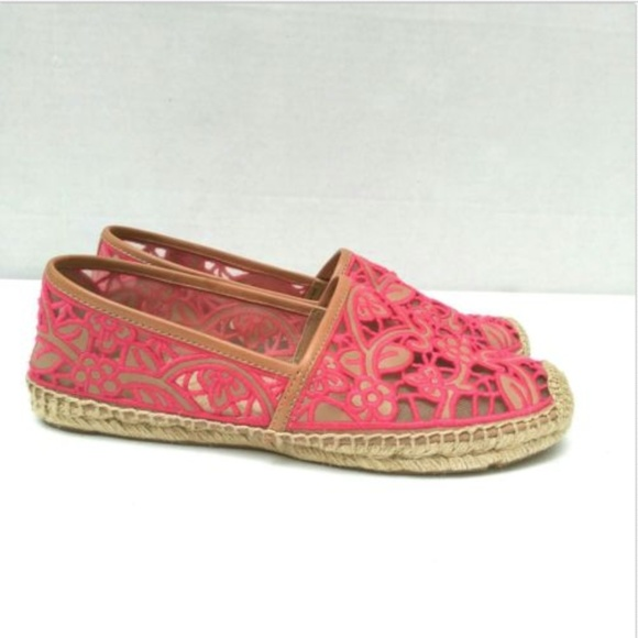 ef7c4696935990 Tory Burch Lucia Lace Embroidered Espadrille Flats.  M 5b9a5ebfc9bf50abef69df20